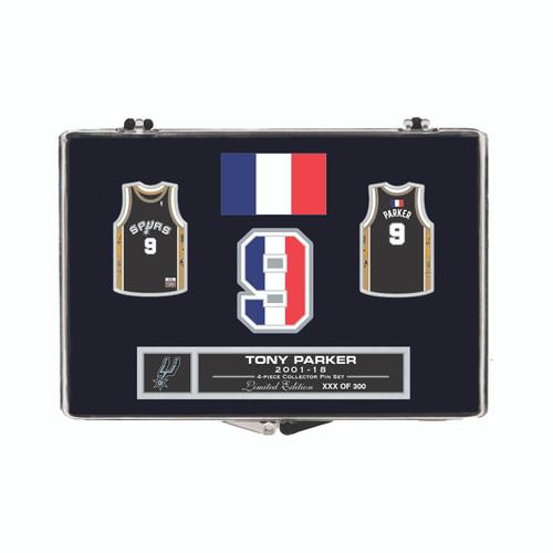 San Antonio Spurs WinCraft Tony Parker 4 Piece Collectible Pin Set