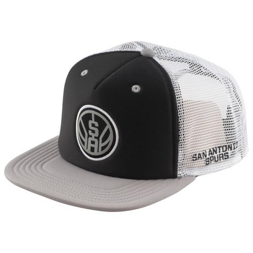 San Antono Spurs Men's Sportiqe SA Basketballl Logo Grade Trucker Hat