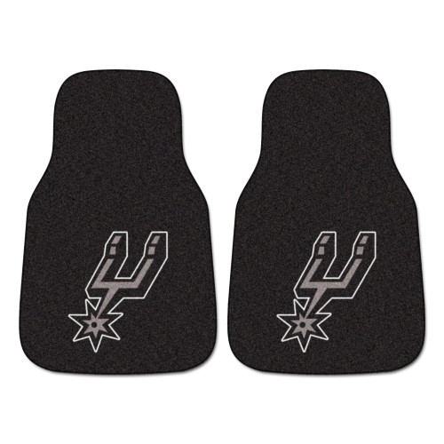 San Antonio Spurs FanMats 2-pc Carpet Car Mat Set