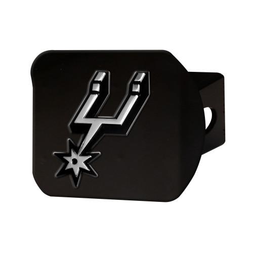 San Antonio Spurs FanMats Chrome Hitch - Black