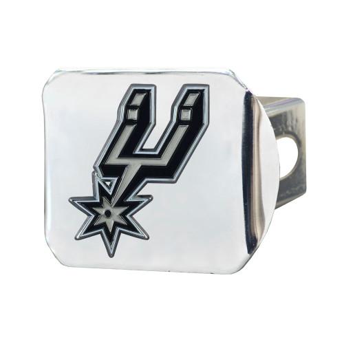 San Antonio Spurs FanMats Color Hitch - Chrome