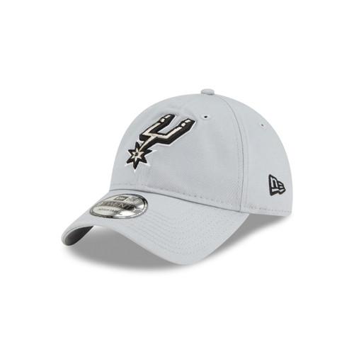 San Antonio Spurs Men's New Era 9Twenty Free Throw Adjustable Hat - Gray