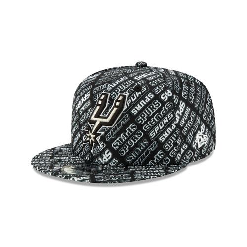 San Antonio Spurs Men's New Era 9Fifty Team Print Snap Back Hat