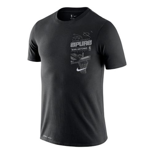 San Antonio Spurs Men's Nike Dri-Fit Backboard T-Shirt