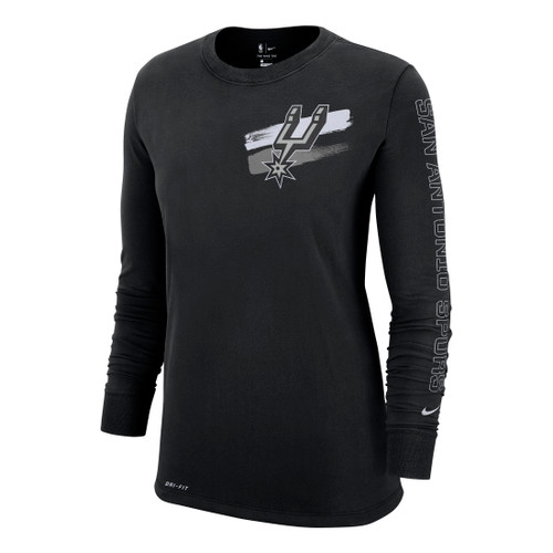 San Antonio Spurs Women's Nike Court Side Dri-Fit Long Sleeve T-Shirt