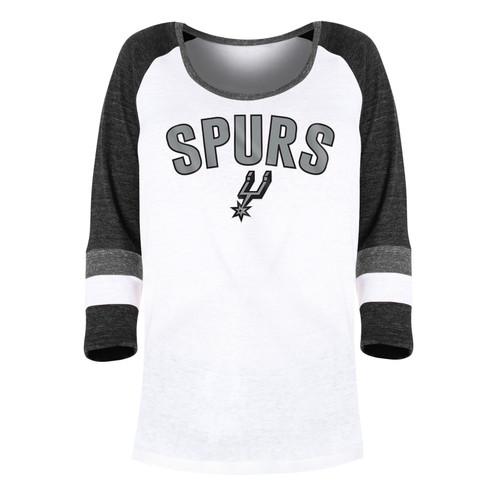 San Antonio Spurs Women's New Era Baby Doll Jersey Long Sleeve Top