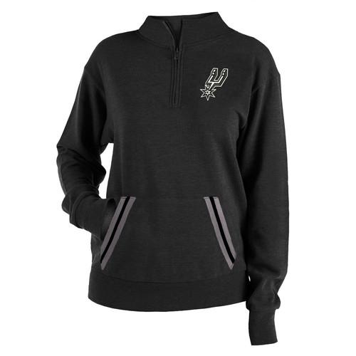San Antonio Spurs Women's New Era 1/2 Zip Pullover