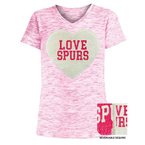 San Antonio Spurs Girls New Era Space Dye T-Shirt