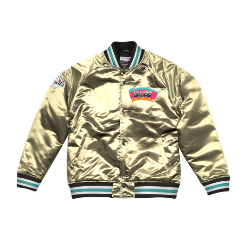 San Antonio Spurs Micthell and Ness Satin Champs Game Jacket