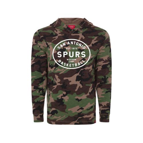 San Antonio Spurs Sportiqe Cadet Hoody - Lightweight Camo Hoody with Spurs graphic