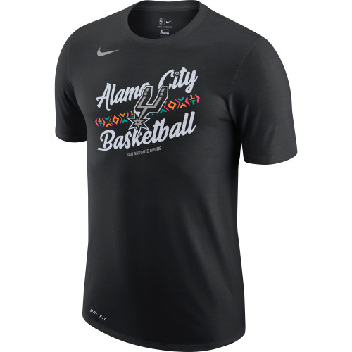 San Antonio Spurs Men's Nike 2020 City Edition Alamo City Short Sleeve T-Shirt - Front