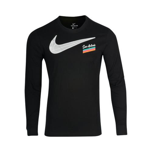San Antonio Spurs Men's Nike 2020 City Edition Long Sleeve Swoosh T-shirt