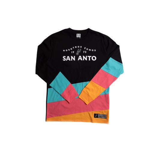 San Antonio Spurs La Cultura Nosotros Somos San Anto Long Sleeve Crew Neck