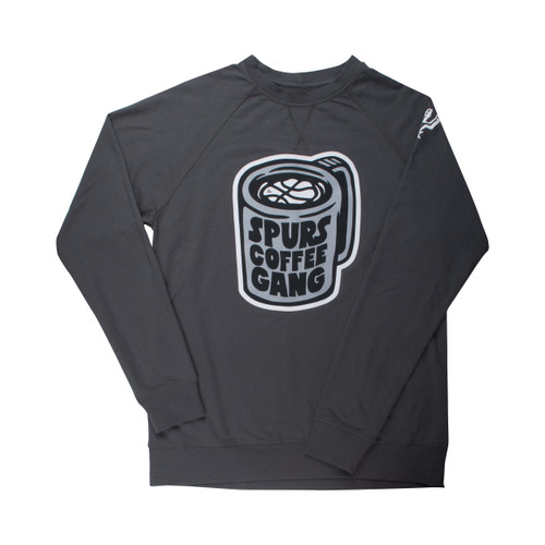 San Antonio Spurs Men's Coffee Gang Crewneck Long Sleeve T-Shirt