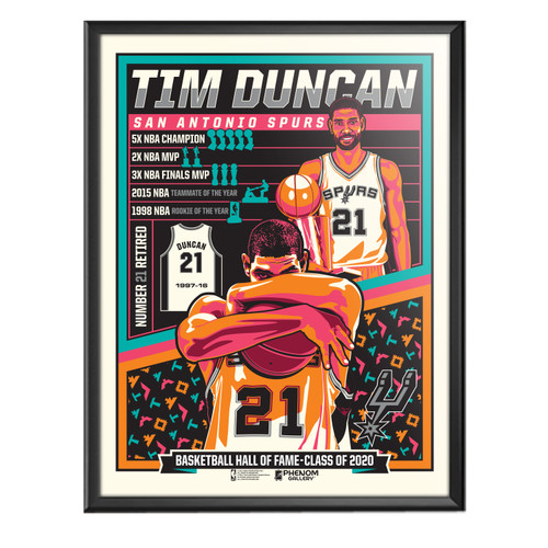 San Antonio Spurs Phenom Gallery Limited Edition Tim Duncan Hall Of  Fame Poster