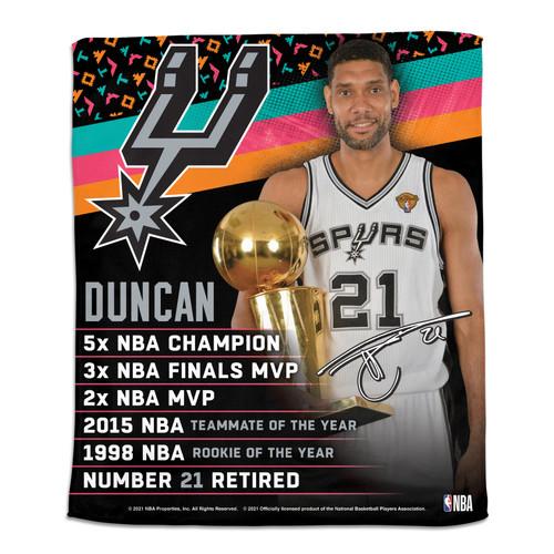 San Antonio Spurs Wincraft Tim Duncan Hall of Fame Rally Towel