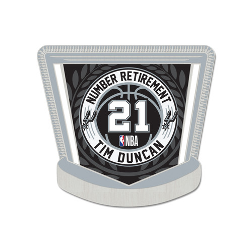 San Antonio Spurs Wincraft Tim Duncan Number Retirement Pin