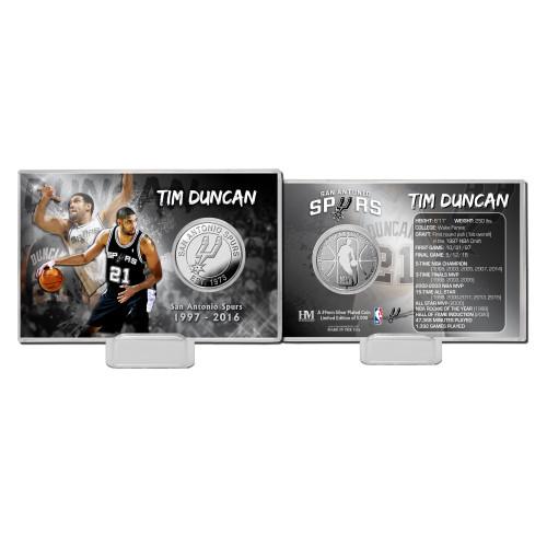 San Antonio Spurs Highland Mint Tim Duncan Coin Card