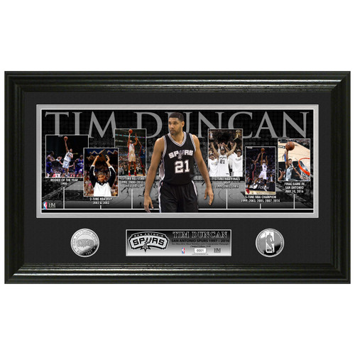 San Antonio Spurs Highland Mint Tim Duncan Career Timeline