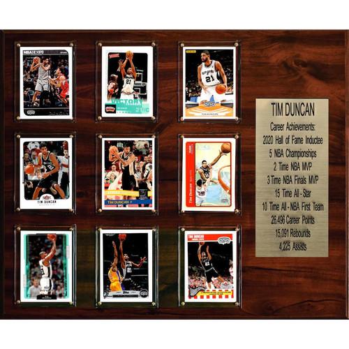 San Antonio Spurs Tim Duncan 9 Card Collectible Plaque