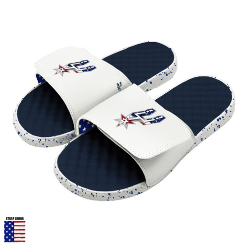 San Antonio Spurs iSlide Americana Sandals - Navy