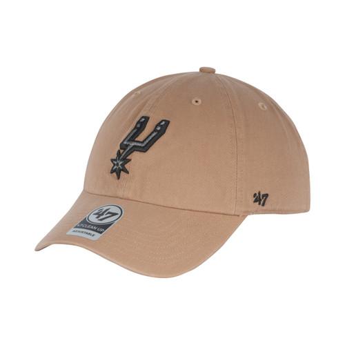 San Antonio Spurs Men's 47 Brand Primary Logo Clean Up Hat - Tan