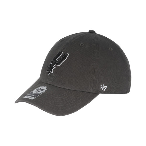 San Antonio Spurs Men's 47 Brand Primary Logo Clean Up Hat - Dark Gary