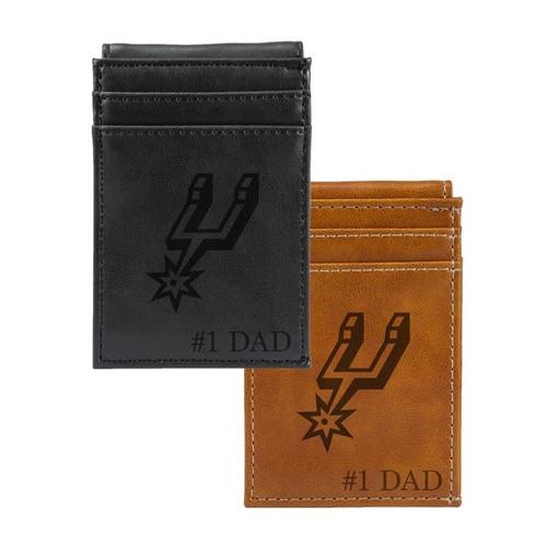 San Antonio Spurs Rico #1 DAD Laser Engraved Front Pocket Wallet