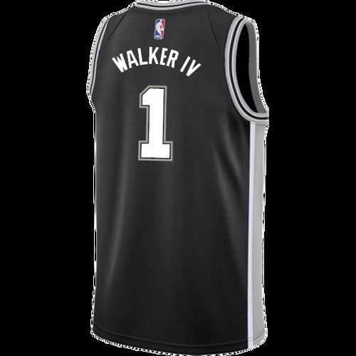 San Antonio Spurs Youth Nike Icon Lonnie Walker IV Jersey