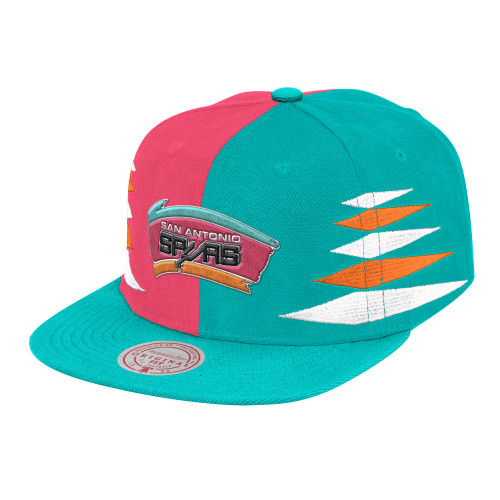 San Antonio Spurs Men's Mitchel and Ness Diamond Cut Snapback Hat