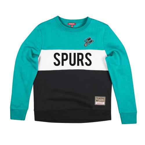 San Antonio Spurs Women's Mitchell and Ness Color Block Fleece Pull Over