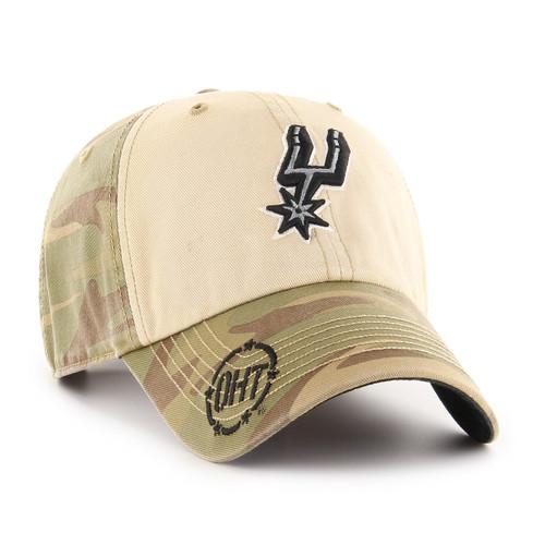 San Antonio Spurs Men's '47 Brand OHT Clean Up Hat - Primary Logo Camo