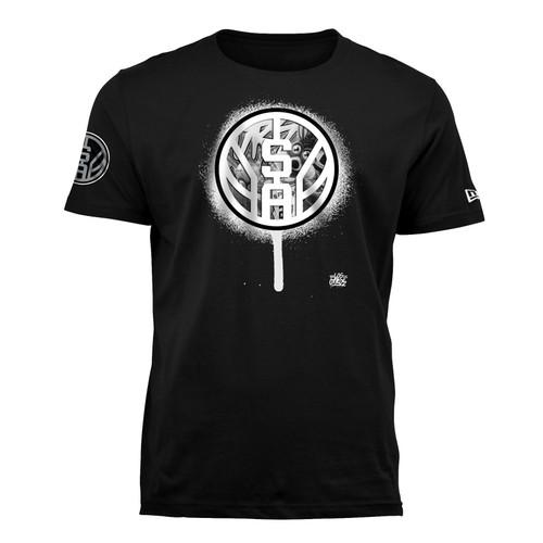 San Antonio Spurs Men's New Era Los Otros SA logo drip Short Sleeve T-Shirt