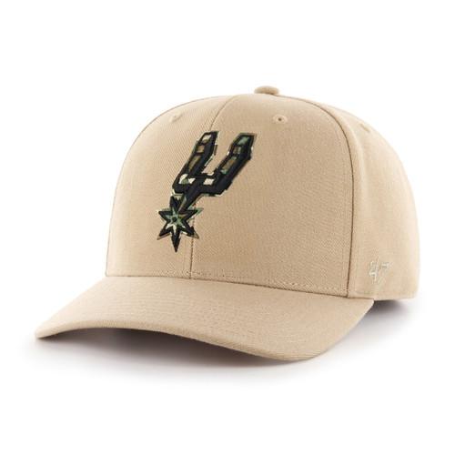 San Antonio Spurs Men's '47 Brand MVP Hat - Khaki with Camo Spur