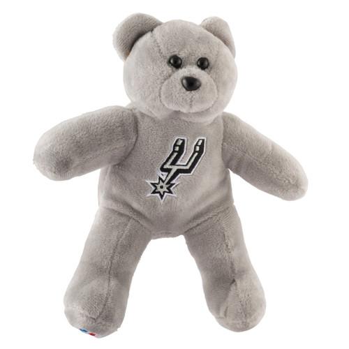 San Antonio Spurs Plush Teddy Bear - Gray
