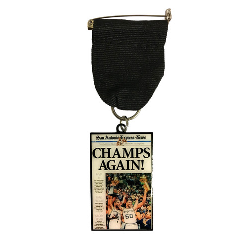 "San Antonio Spurs 2003 ""Champs Again!"" Fiesta Medal by San Antonio Express News"