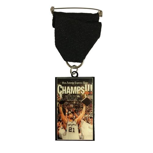 "San Antonio Spurs 2005 ""Champs!!!"" Fiesta Medal by San Antonio Express News"