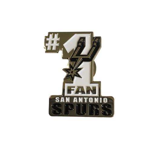 San Antonio Spurs Collectible #1 Fan Lapel Pin