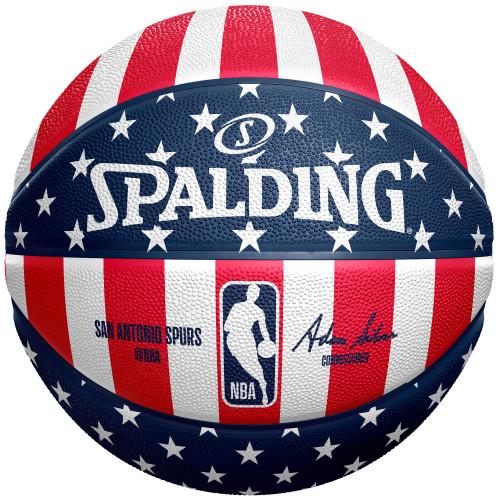 San Antonio Spurs Spalding B3 Size Mini Patriot Basketball