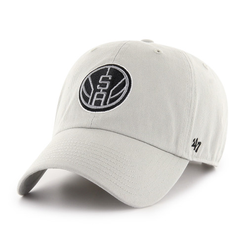 San Antonio Spurs Men's '47 Brand Clean Up Hat - Gray with SA Basketball Logo