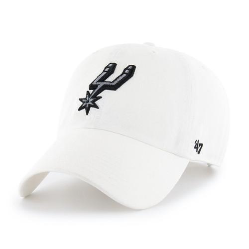 San Antonio Spurs Men's '47 Brand Clean Up Hat - White with Spur Logo