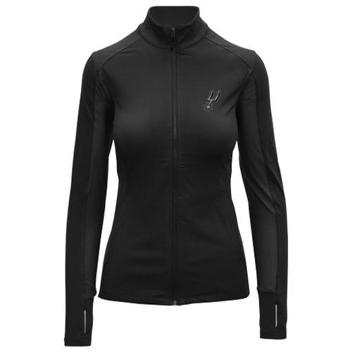 San Antonio Spurs Women's Levelwear Alyssa Full Zip Activwear Top