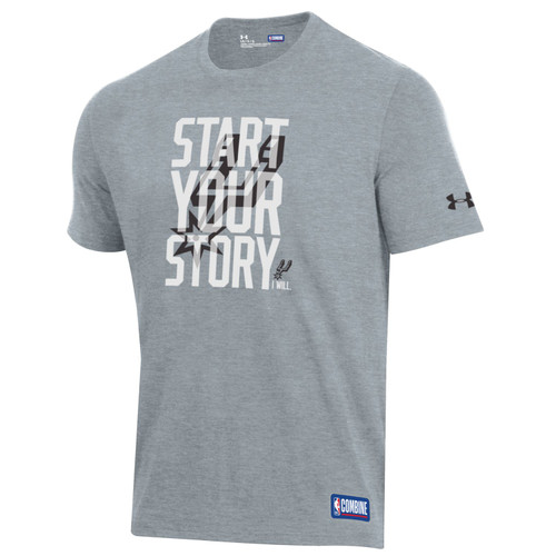 San Antonio Spurs Youth Under Armour Start Your Story T-Shirt