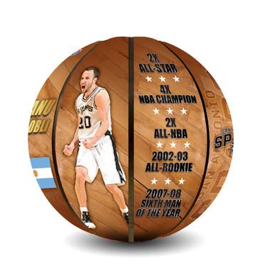 Manu Ginobili San Antonio Spurs Basketball Photo Poster 24x36#1