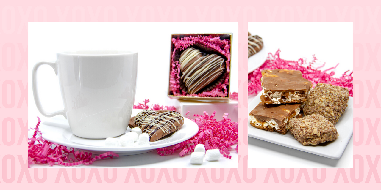 Valentine's Day Chocolate Gifts - Toffee Gifts and Hot Chocolate Bobs
