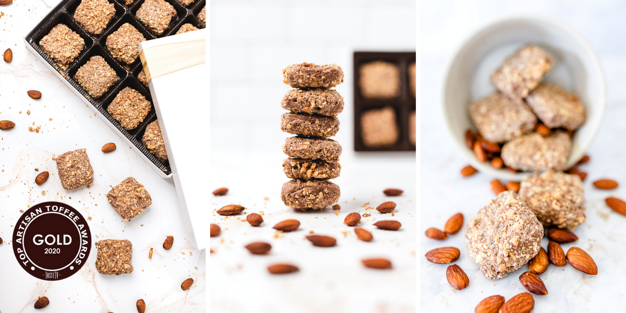 Toffarazzi Chocolate Toffee Gift Box  - 5-Star Award Winning Almond Toffee