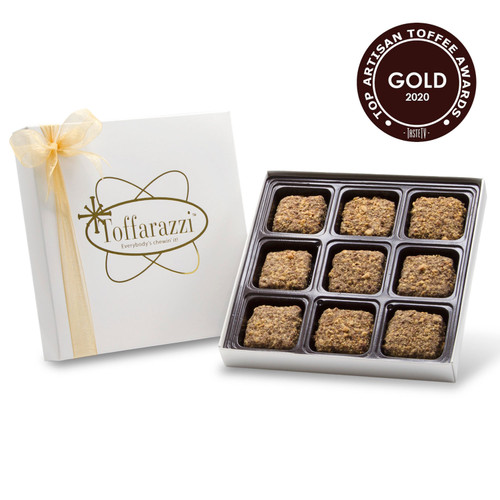 Toffarazzi Toffee won Gold for overall Top Toffee and Best Taste at the 2020 International Chocolate Salon Artisan Toffee Awards