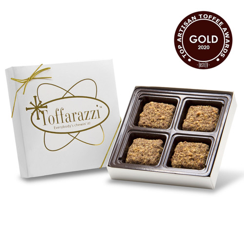 Small Chocolate Gift Box of Award-Winning Toffarazzi Toffee - Won Gold for Top Toffee at the 2020 International Chocolate Salon Toffee Awards