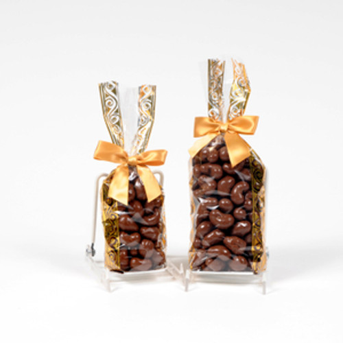Milk Chocolate Covered Cashews - Choose from 1/2lb or 1lb Gift Bag