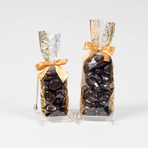 Half and full pound bags of our dark chocolate covered pecans.